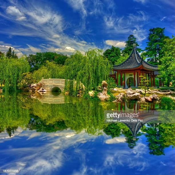 chinese garden - san marino california stock pictures, royalty-free photos & images