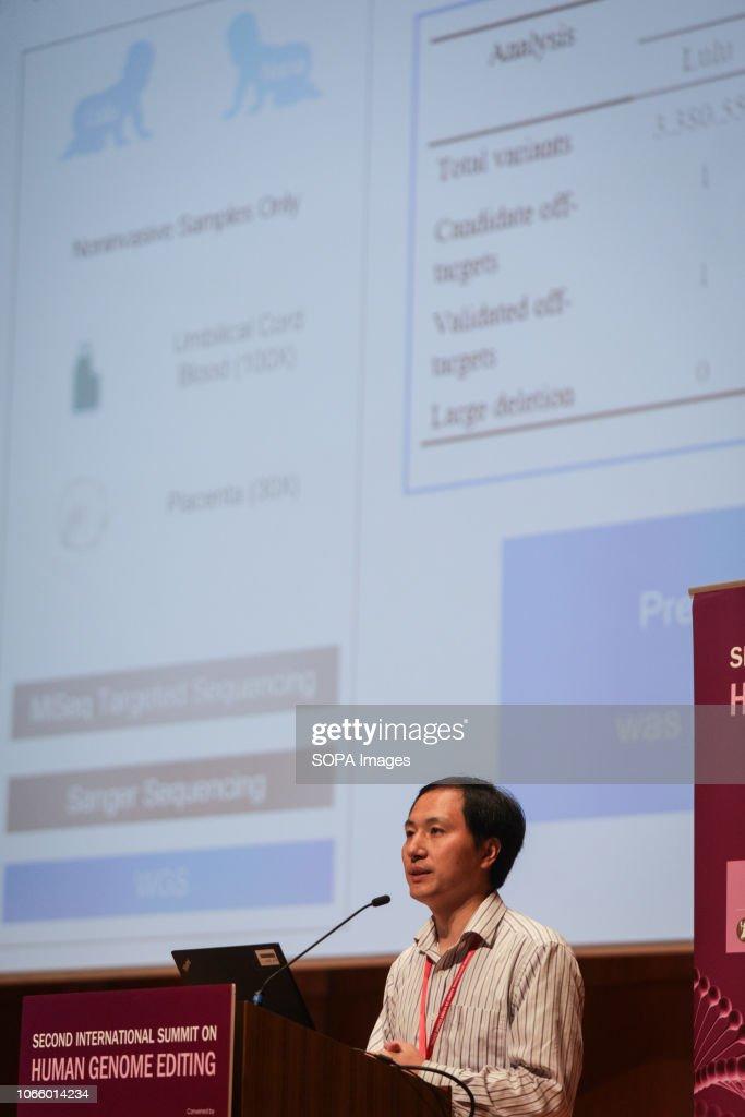 Chinese geneticist He Jiankui of the Southern University of... : News Photo