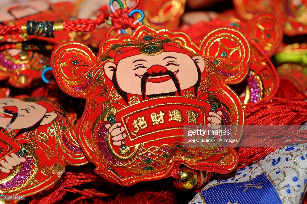 Chinese gifts on sale in Birmingham as people around the
