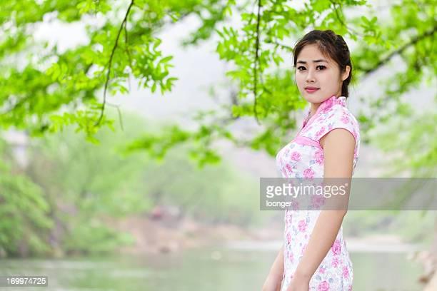 中国の女性の自然