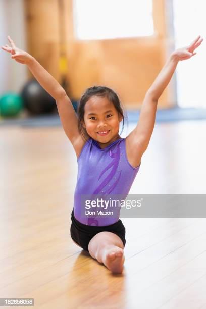 Chinese girl practicing gymnastics