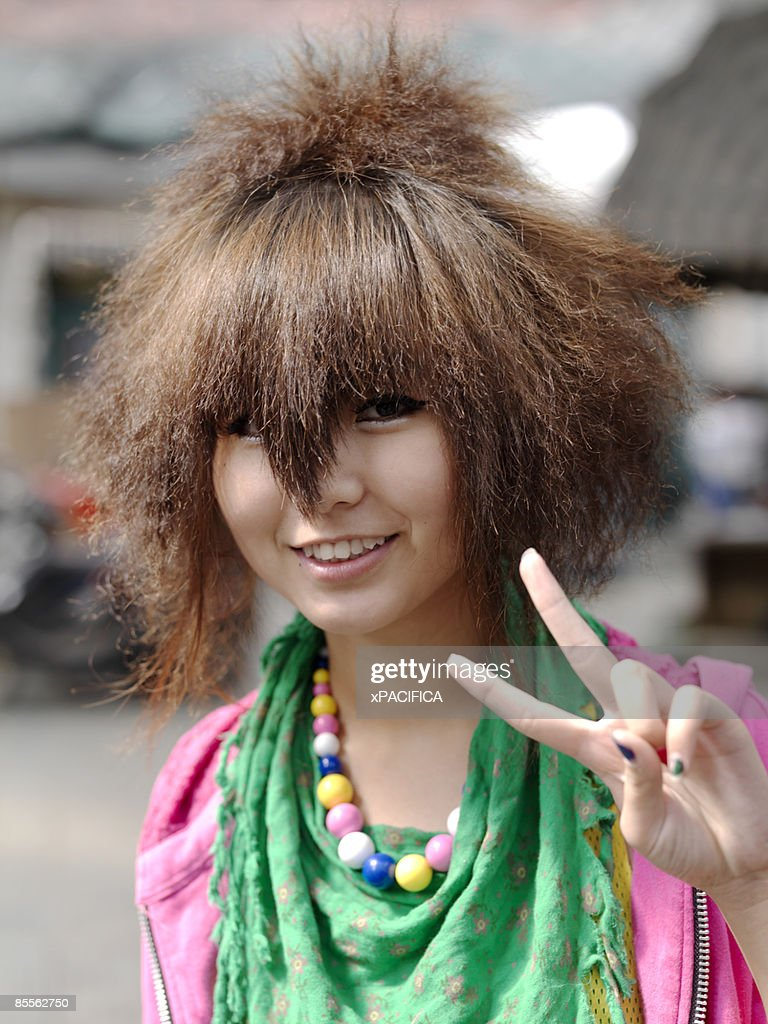 A Chinese Girl With A Unique Haircut Stock Photo Getty Images