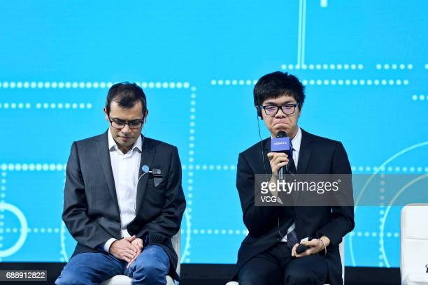 Chinese Go player Ke Jie attends the press conference after his third round game against Google's artificial intelligence program AlphaGo during the...