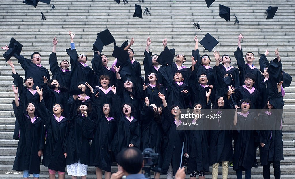 Chinese College Graduates Rise By 3% To 6.8 Million : News Photo