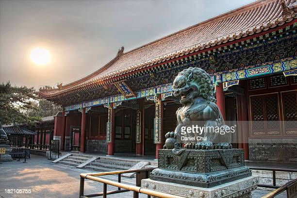 Chinese guardian lion at Summer Palace