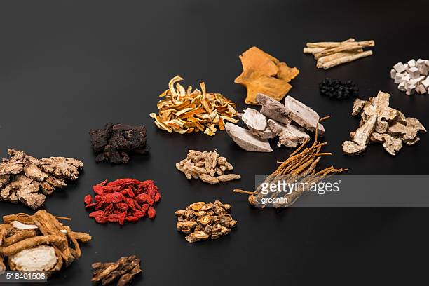 chinese herbal medicine - dry mouth stock photos and pictures