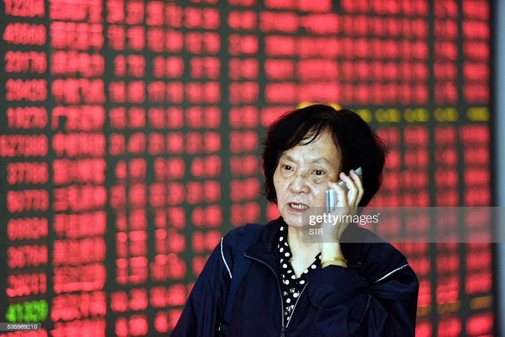 CHINA-ECONOMY-STOCKS : News Photo