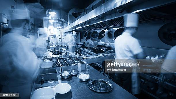 Chinese kitchen busy at work