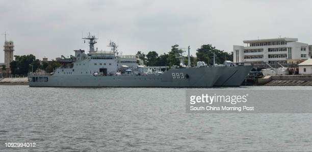 Chinese landing ship Luoxiao Shan – one of the Yuting III class military landing vessels – moors in Zhanjing naval base 31JUL17 SCMP / Chow...