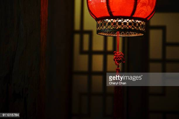 chinese lantern, chinese new year decoration - chinese knotting stock pictures, royalty-free photos & images