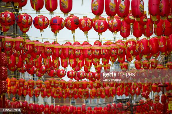 Chinese Lanterns Are Hung In Chinatown On January 24 2020 In London News Photo Getty Images