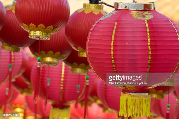 chinese lanterns hanging outdoors - shaifulzamri foto e immagini stock