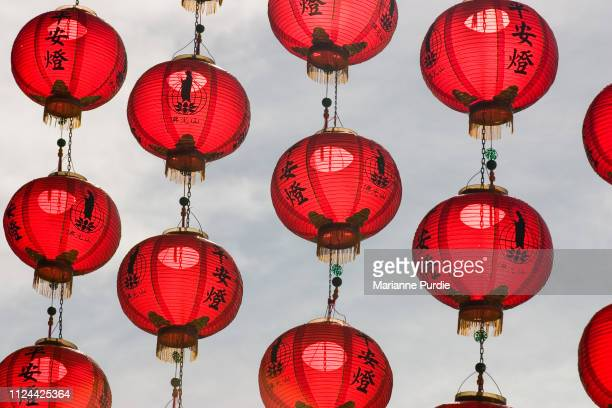 chinese lanterns - china east asia stock pictures, royalty-free photos & images