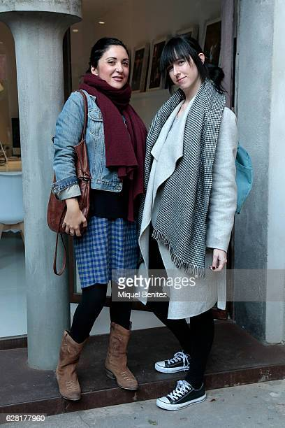 Chinese linguist Valeria Grech is wearing a Guess denim jacket Stefanel scarf Codigo Basico dress Hakes handbag vintage boots RayBan sunglasses and...