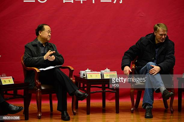 Chinese Literature Nobel laureate Mo Yan and French Literature Nobel laureate JeanMarie Gustave Le Clezio hold talks about Literature and Life at...