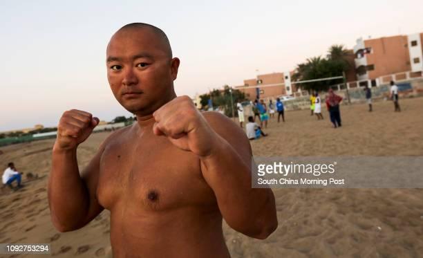 Chinese Liu Jiang, who teaches local children Martial arts in Djibouti, East Africa. 12JAN17 SCMP / Felix Wong
