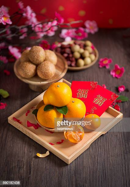 Chinese lunar new year table top shot.