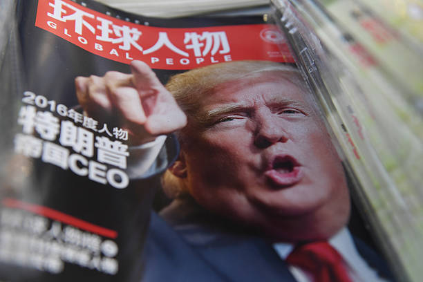 a chinese magazine with a front page story naming us president elect