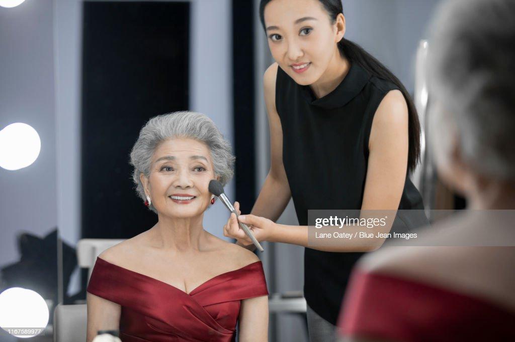 Chinese Makeup Artist Applying