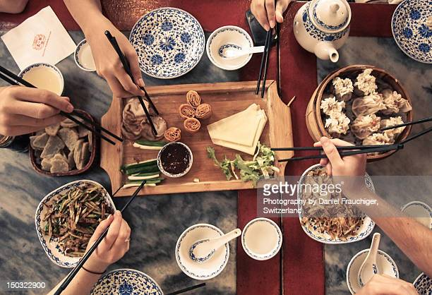 chinese meal - beijing province stock photos and pictures