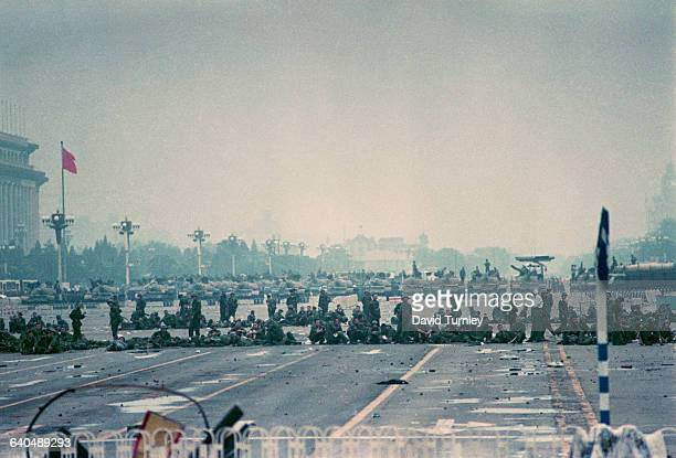 Chinese Military in Tiananmen Square