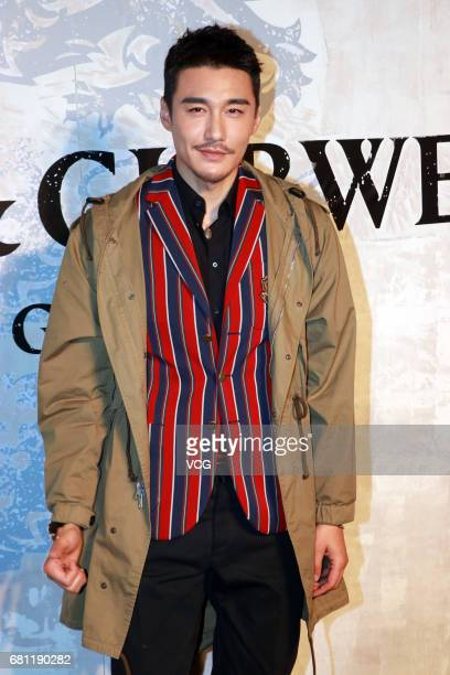 Chinese model and actor Hu Bing attends Kent Curwen activity on May 9 2017 in Shanghai China