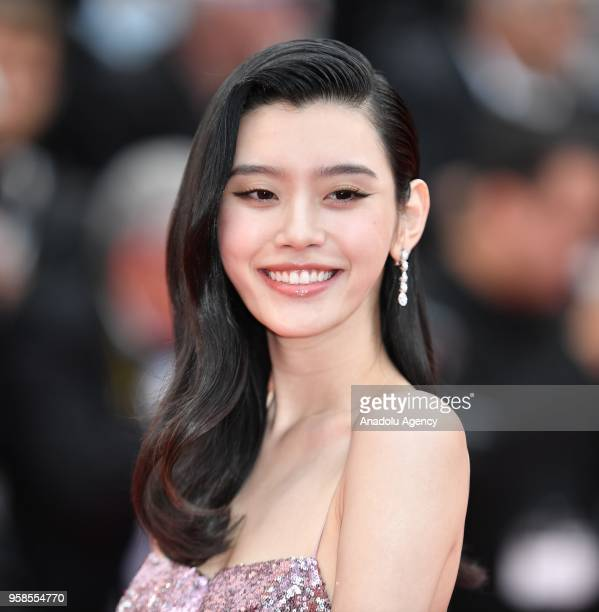 Chinese model Ming Xi arrives for the screening of the film 'BlacKkKlansman' at the 71st Cannes Film Festival in Cannes France on May 14 2018