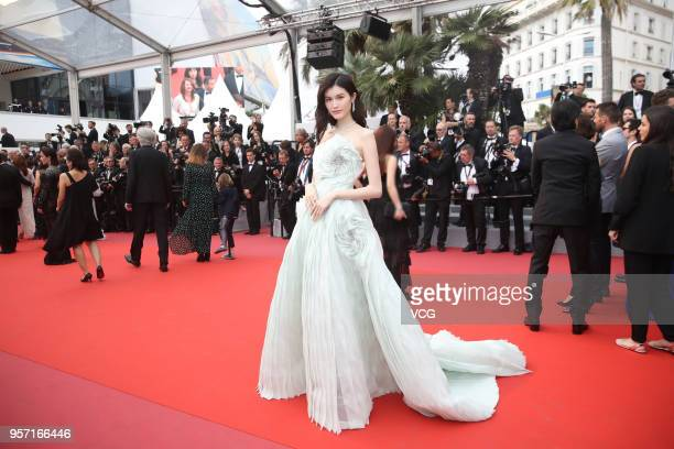 Chinese model Sui He attends the screening of 'Sorry Angel ' during the 71st annual Cannes Film Festival at Palais des Festivals on May 10 2018 in...