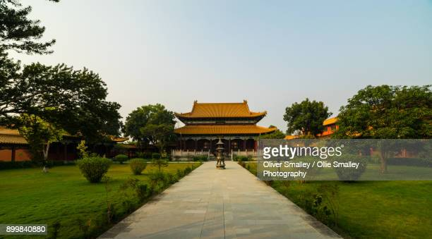 chinese monastery - lumbini, nepal - monastery stock pictures, royalty-free photos & images