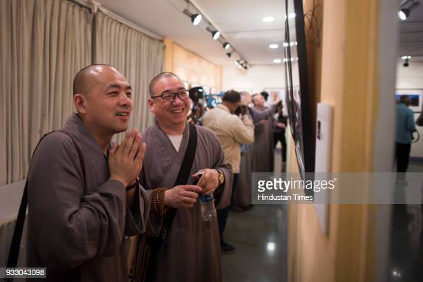 Chinese monks from China Buddhist Association visited Chinese Buddhist Cultural Heritage Photo Exhibition organised by Musician Federation of India...