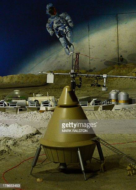 A Chinese moon base exhibit at the Science and Technology Museum in Beijing on August 30 2013 China will send its first probe to land on the moon by...