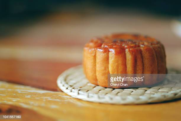 chinese mooncakes - moon cake stock pictures, royalty-free photos & images