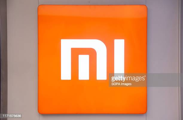Chinese multinational technology and electronics brand Xiaomi logo seen in Hong Kong.