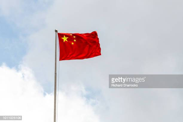 chinese national flag - china stock-fotos und bilder