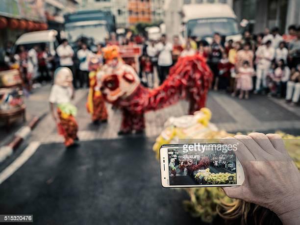 中国の新年のお祝い、バンコクのチャイナタウン