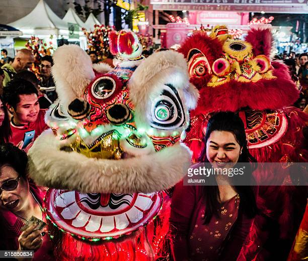 Chinesisches Neujahr Chinatown Bangkok