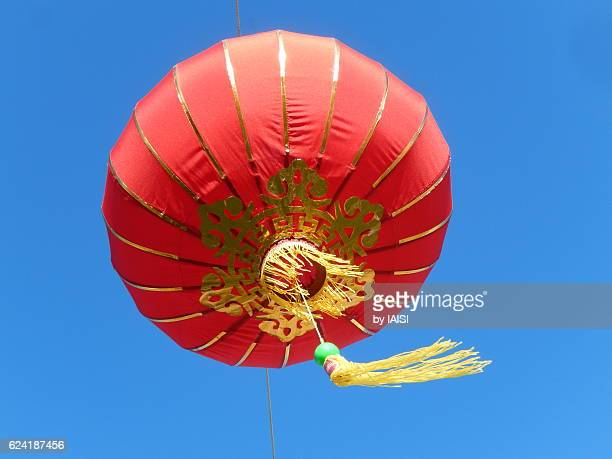 Chinese New Year, Chinese lantern against sky
