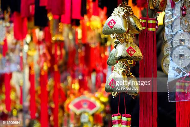 Chinese new year decoration and celebration in Hong Kong
