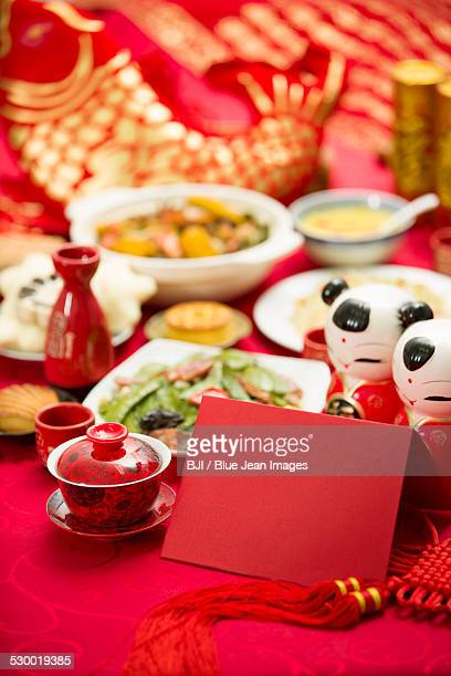 Chinese New Year decoration and food