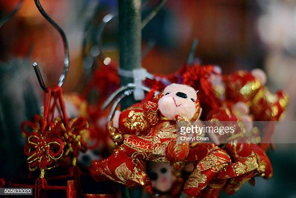 chinese new year decoration - monkey pox stock pictures, royalty-free photos & images