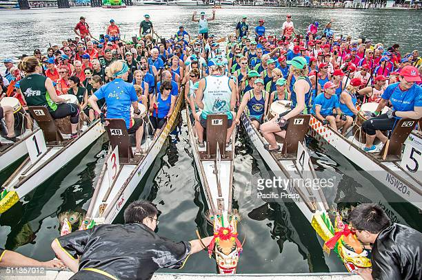 Chinese New Year finale of Dragon Boat Racing started with an eyedotting ceremony and Taoist ceremony in Darling Harbour to bless the waters and...