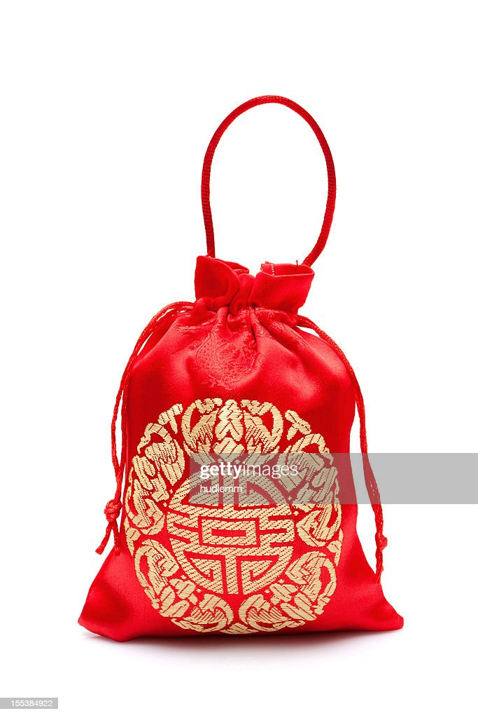 Chinese New Year Gift Bags Isolated On White Background ...