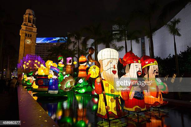 chinese new year lantern carnival 2013 - chinese lantern festival stock pictures, royalty-free photos & images