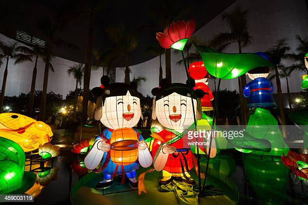 chinese new year lantern carnival 2013 - lantern festival stock pictures, royalty-free photos & images