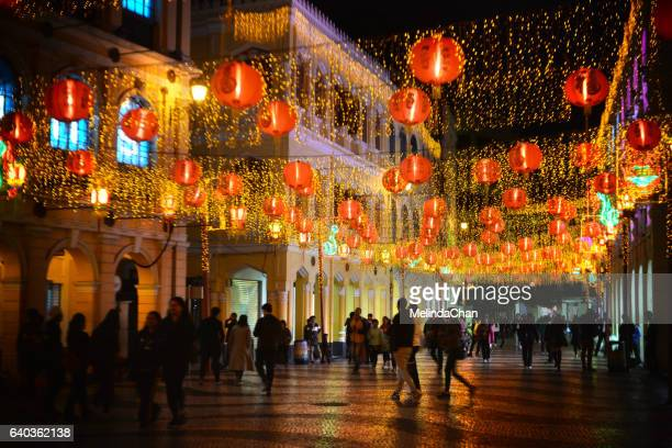 Chinese New Year light lantern decoration in Macau