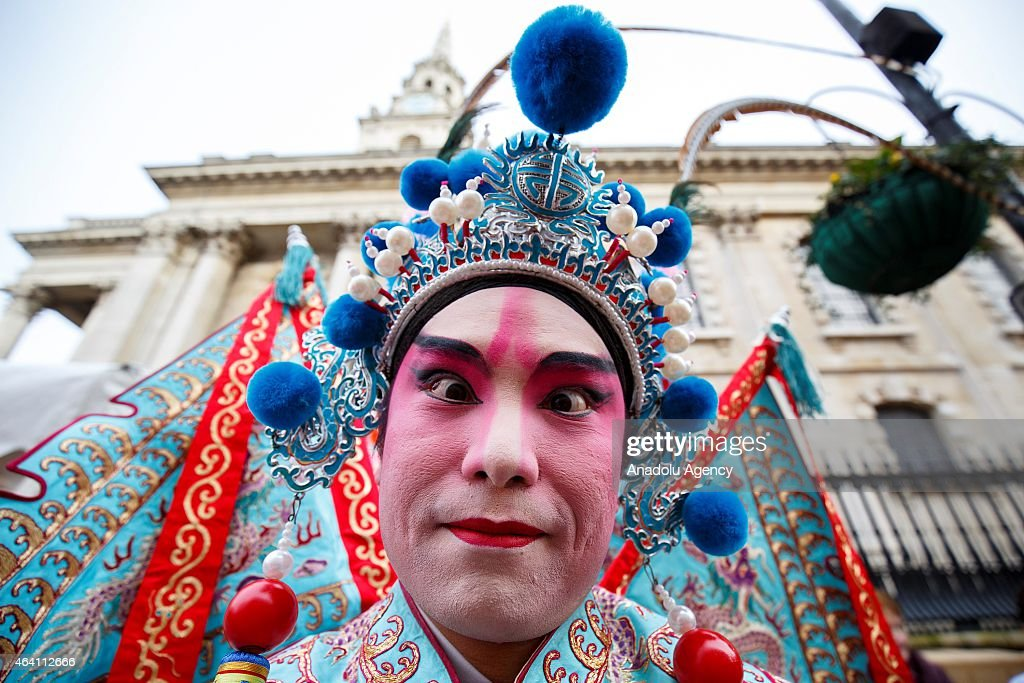 Chinese New Year Parade gets ready to go through the streets of London to celebrate Chinese New Year, The Year of the Sheep with Londoners on February 22, 2015.