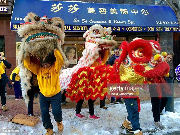 Chinese New Year Parade In Chinatown Philadelphia Pennsylvania The Lion Dance 2/22/2015
