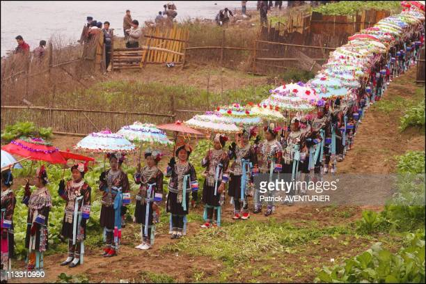 Chinese New Year, To The Sound Of The Lusheng - On February 11Th, 2005 - In China - Here, Procession On The Banks Of The River Danian - The Young...