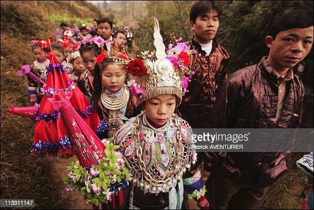 Chinese New Year, To The Sound Of The Lusheng - On February 11Th, 2005 - In China - Here, Young Women And Men Dressed In The Traditional Miao...