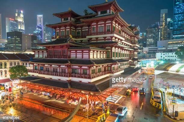Chinesische Neujahr 2018 in Singapur China Town und Traveller genießen afokatili